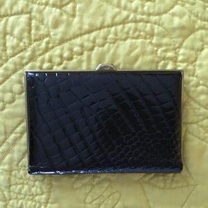 VTG 1940's Black Alligator Cowhide Leather Wallet